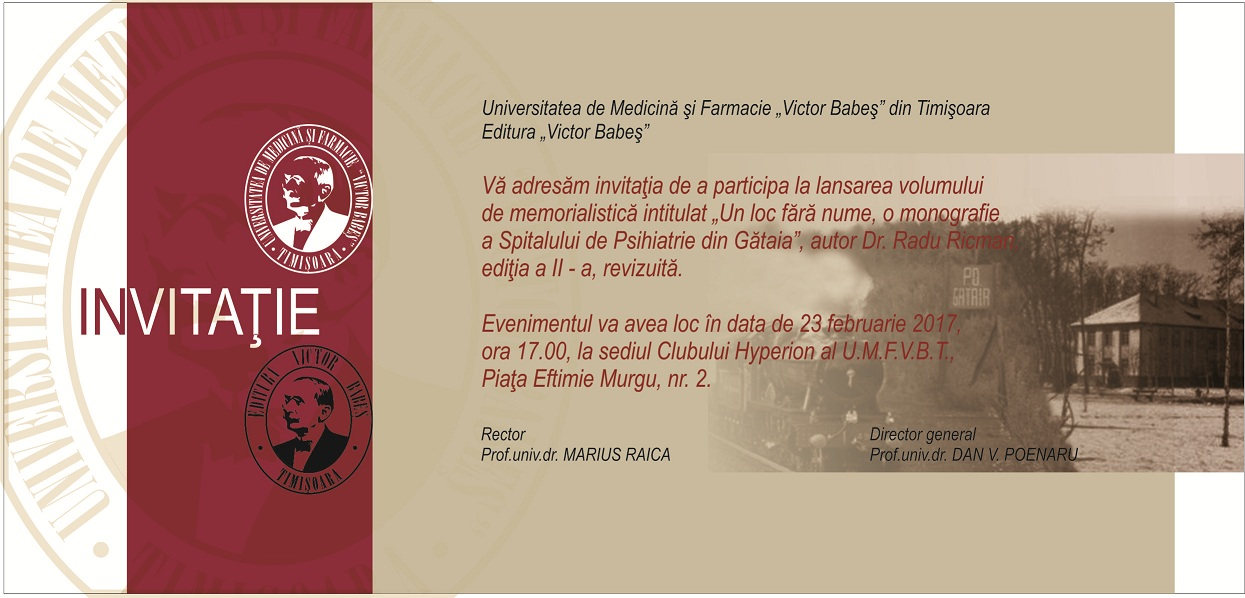 invitatie lansare carte ricman